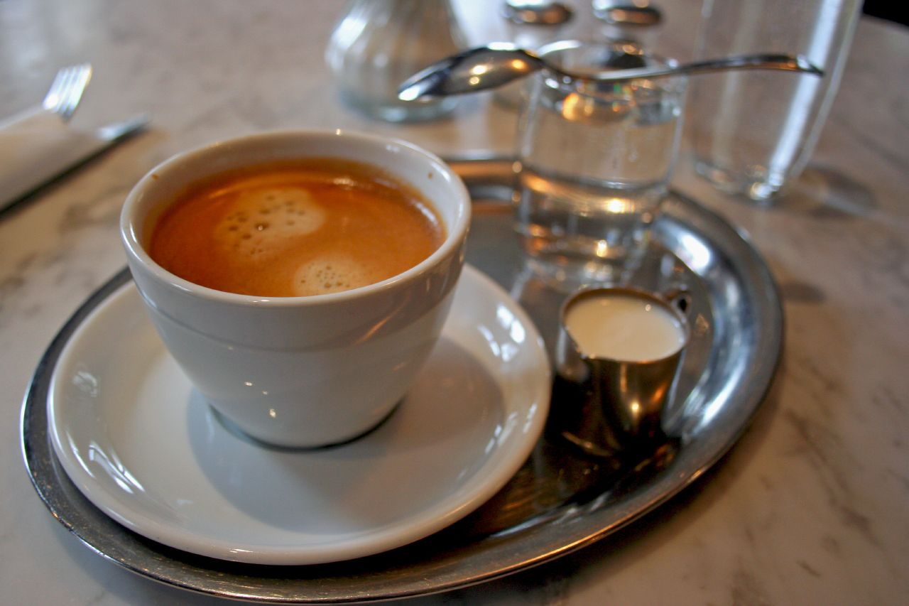 Kaffe (Coffee) Served in a Silver tray