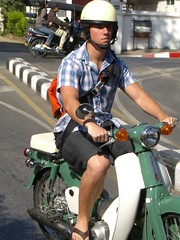 The Chad on moped in chiang Mai