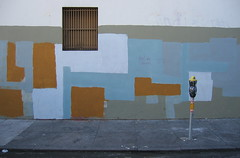 """holiday canvas '07"" (unaesthetic) Tags: sanfrancisco street art graffiti paint sidewalk buff meter subconscious"