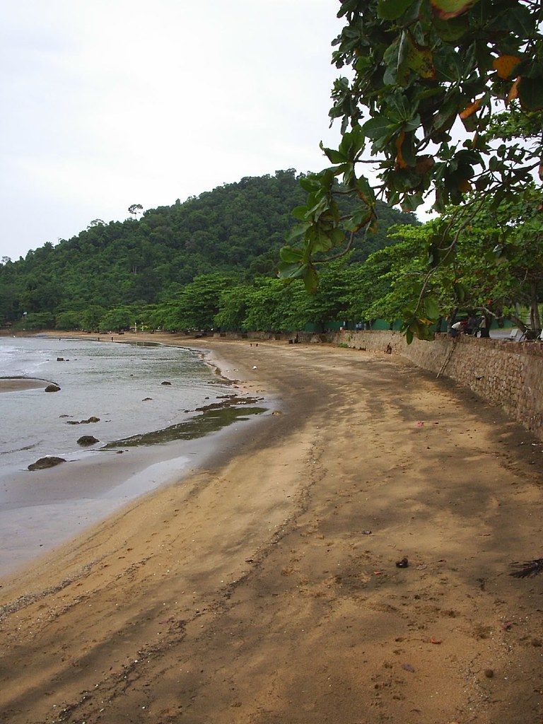 The main beach at Kep - not one of Cambodia's best