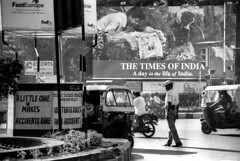 A day in the life of India (Stuart-Forster) Tags: street people india traffic bangalore police motorbike karnataka fedex adverts autorickshaw adayinthelife timesofindia threewheeler twowheeler alittlecaremakesaccidentsr stuartforster wwwwhyeyephotographycom
