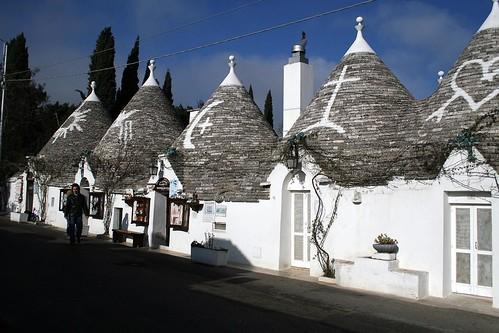 Street in Rione Monti, Alberobello