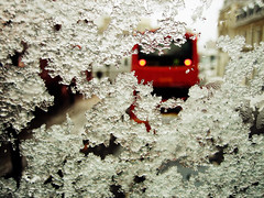 Through the ice (Simon Crubellier) Tags: uk england snow bus london canon europe camden ixus ixus50 simoncrubellier