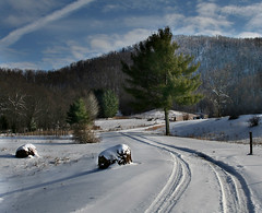 snow road (Pretorious Photography) Tags: road wood trees winter sky horse cloud sun white mountain snow storm mountains color colour art ice colors beauty grass weather fog clouds fence stars landscape photography landscapes frozen blackwhite weeds woods frost colours searchthebest wind farm country fences super wv westvirginia valley rays farmer roads hay sunrays storms blizzard coolest beautifil skys countryroads froze supershot abigfave pretorious impressedbeauty flickrdiamond