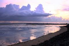 Serangan (Farl) Tags: travel pink sunset bali seaweed colors reflections indonesia mirror twilight farm stakes nusadua tanjungbenoa cottonii serangan mariculture kappaphycusalvarezii rumputlaut