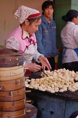 BBQ doufu (Ian Riley [on the right side of the fence]) Tags: china food tofu chinese barbecue kunming yunnan doufu