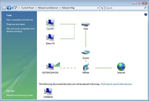 Network Map in Windows Vista