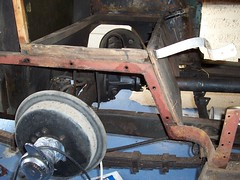 Subframe (ChrisTC7045) Tags: old cars 1948 sports car construction mechanical body mg restore tc restoration busker oldcar dismantle mgtc beforerestoration