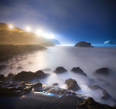 Whipped Cream (ec808x) Tags: ocean sanfrancisco nightphotography seascape abandoned fog night d50 coast nikon ruins surf decay wideangle sutrobaths cliffhouse tamron1118mm thebestwaterscapes