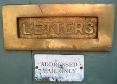 letter box (MrBG) Tags: macro closeup mail letters 19thcentury melbourne suburb letterbox junkmail brass