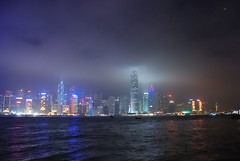 Hong Kong skyline as seen from Kowloon (jazzpic) Tags: skyline night hongkong nikon bankofchina victoriaharbour ifc2 tsimtsatsui 18200mmf3556gvr d80 top20flickrskylines gorillapodslrzoom msimons 1kptsbydp424