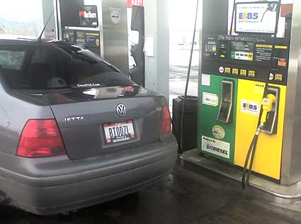 Filling my BIODZL Volkswagen Jetta TDI