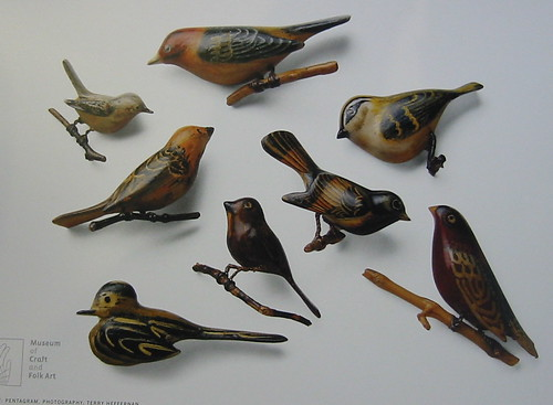 Birds from the Art of Gaman