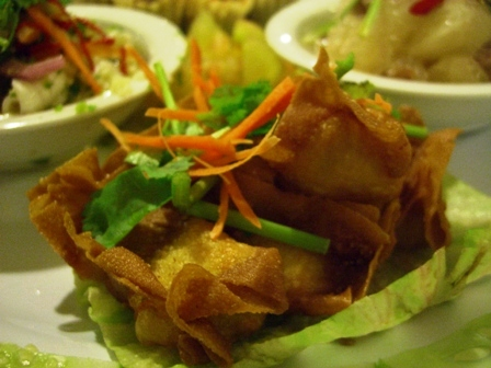 Asian Tapas - fried wontons