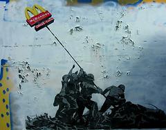 amsterdam streetart (wojofoto) Tags: streetart amsterdam scrapbook t concrete graffiti book stencil mcdonalds jungle edge soldiers stencilart abigfave wojofoto