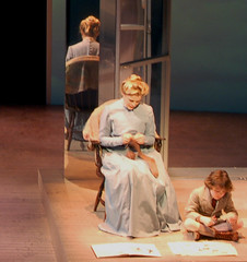 Sock Knitting Onstage (lisascenic) Tags: knitting sock scenery theater play theatre stage performance knit domestic lisascenic script domesticity housewife artistsatwork virginiawoolf berkeleyrep tothelighthouse berkeleyrepertorytheatre lisalazar ontsage