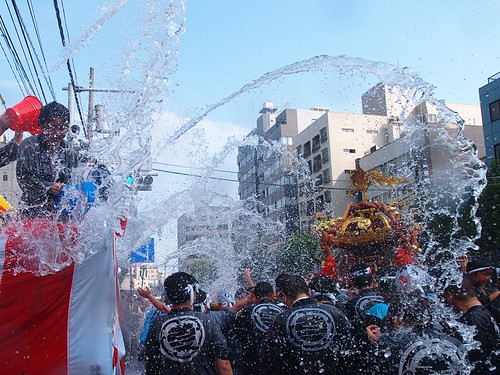 The festival covered with water 1