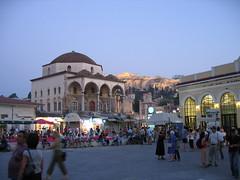 Monastiraki pada waktu senja, Athens, Greece
