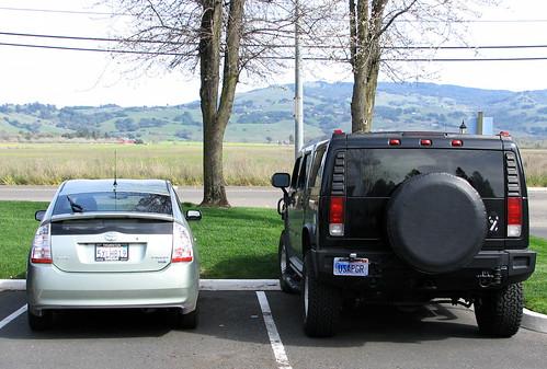 Prius vs. hummer