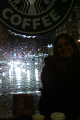 Starbucks in the rain