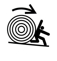 the rolling wheel (jekemp) Tags: signs man warning label safety international labels safetyman