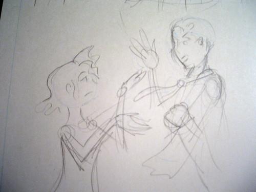 Pretty sketch: Page 19 panel 5