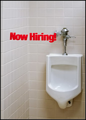 Now Hiring! (smenzel) Tags: reflection sign toilet 2006 urinal v300 top20signs