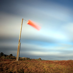 Windsock (Adam Clutterbuck) Tags: longexposure 20d island cornwall wind canoneos20d oe heliport tresco islesofscilly windsock scillies scillyisles greengage adamclutterbuck cornishcoast windstrength showinrecentset openedition