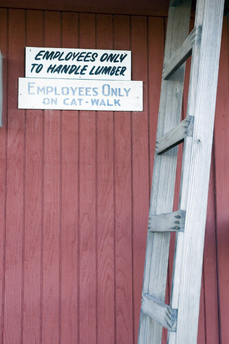 Oxford Lumber Ladder to the Catwalk