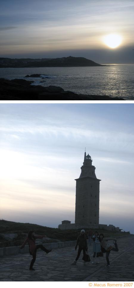 torre hercules vista al mar