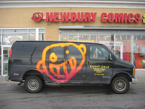 newbury comics truck in cambridge