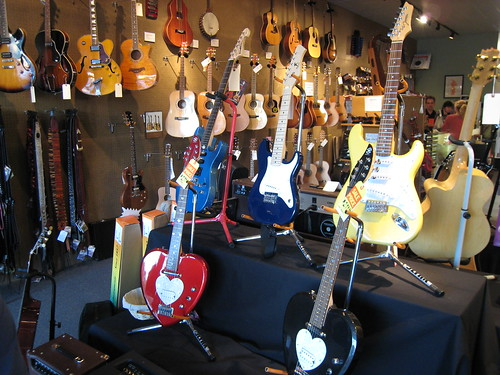 Lots of guitars