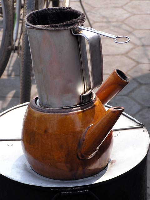 Cambodian coffee pot