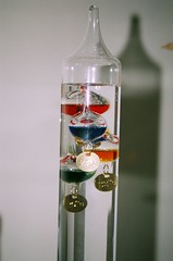 Gallileo Thermometer (Random Synapses) Tags: film multicoloured 2006