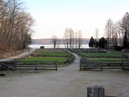 The Potomac river from across Mount Vernon's garden