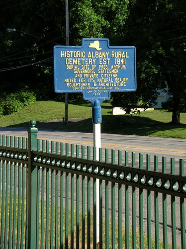 Historical Marker at Albany Rural Cemetery