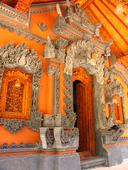 bali - doorway (adlaw) Tags: door travel bali orange indonesia island asia southeastasia carving portal intricate balinese lembongan lembonganisland