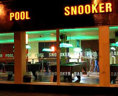 Midnight snooker (Arkadyevna) Tags: longexposure wales geotagged cardiff saturdaynight roath cityroad improvisedtripod geolat51487145 geolon3166552