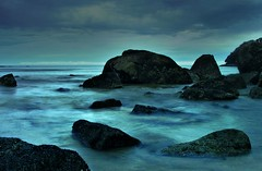 rocks in sunset in Abel Tasman National Park, New Zealand