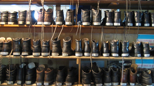 Limmer Boots, all lined up
