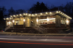 Cigarette Break (dshearer) Tags: longexposure nightphotography 20d canon traffic diner croton workrelated crotononhudson danielshearer crotonon