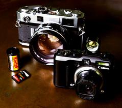 Generations (The Johann Espiritu) Tags: film digital canon rangefinder powershot generations johann viewfinder helios canon7s g7 espiritu 095 canon7 canong7