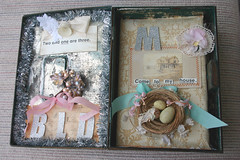 """Our Home"" book... (fleamarketstudio) Tags: flowers art home collage vintage scrapbooking diary collageart crafty finds artjournal alteredart homelife shabbychic mixedmediaart"