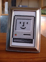 Happy Mac cross stitch (benjibot) Tags: apple mac crossstitch crafts os9