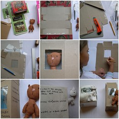 Recycled Box Packaging Tutorial (Lizette Greco) Tags: christmas xmas toys holidays recycled crafts illustrations drawings plushies softies presents boxes recycle ideas greco lizette lizettegreco recycledbox grecolaborativo