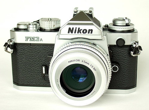 FM3a +  Nikkor 45mm with concave hood