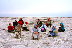 All of Us on the Salt Lake (Hamed Saber) Tags: saltlake namaklake daryachehyenamak   qum desert kavir   kavirnationalpark playa alkaliflat sabkha saltflat saltmarsh kelly hamed somayeh             saber iran iranian persia persian geotagged farsi interestingness flickrexplore flickrmeetup meetup gathering flickr flickies flickrites groupshot flickr:user=somayeht flickr:user=kellycheng flickr:user=mojtabaa flickr:user=mymailo flickr:user=~vista flickr:user=mhiteshneh flickr:user=ehsankhakbaz flickr:user=mahdiet flickr:user=hamedsaber