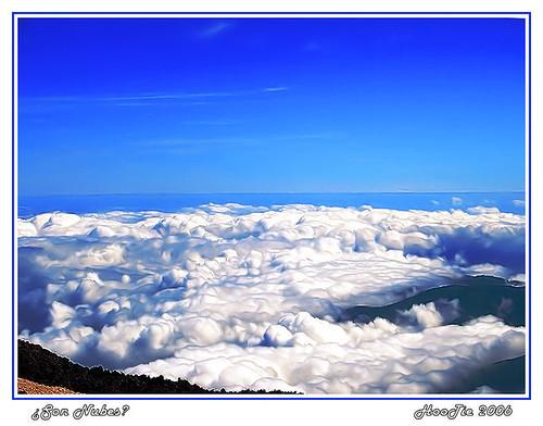 Nubes desde el Teide, Tenerife