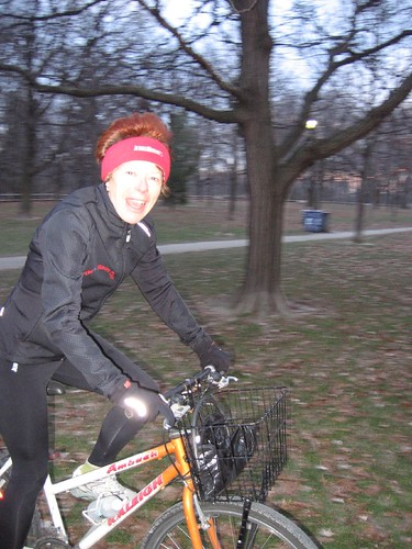 Dr. Jean Marmoreo arrives for Saturday morning MORE Marathon Training