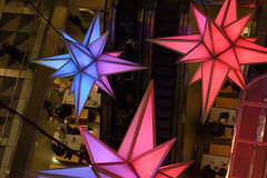 Happy Holidays! (daiji) Tags: christmas nyc newyorkcity holiday newyork night colorful manhattan columbuscircle starts timewarnercenter 59thstreet holidaystars holidayunderthestars